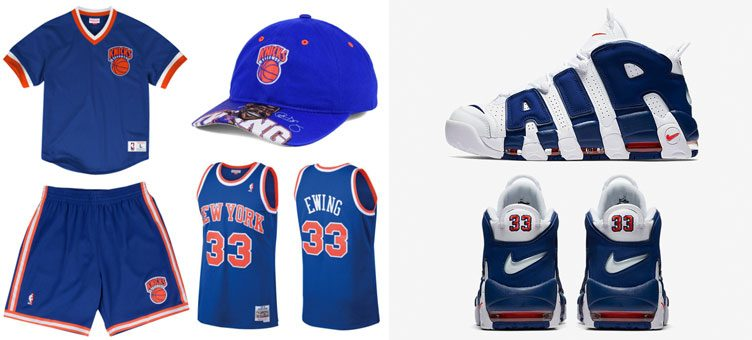 "Mitchell & Ness New York Knicks Gear to Match the Nike Air More Uptempo ""Knicks"""
