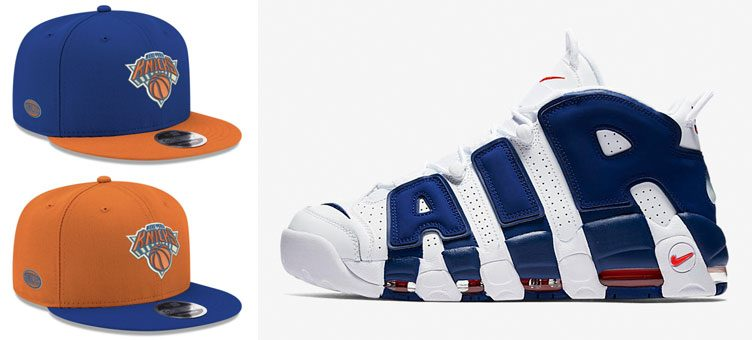 "Nike Air More Uptempo ""Knicks"" x New York Knicks New Era Basic Link Snapback Caps"