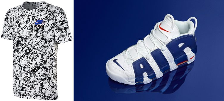 "Nike Air More Uptempo Shirts to Match the Nike Air More Uptempo ""Knicks"""