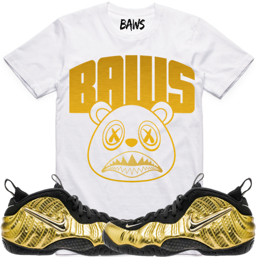 Gold Foamposites Pro sneaker outfits