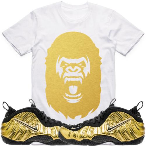 Gold Foamposites Pro sneaker tee