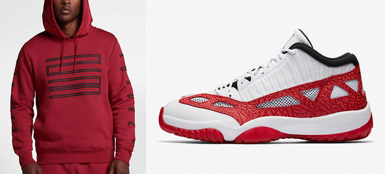 1cc4387260a45b Air Jordan 11 Low IE Fire Red Hoodie