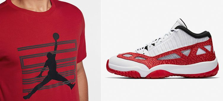 air-jordan-11-low-ie-fire-red-shirt