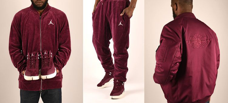 "9f7b8a91382a47 Air Jordan 12 ""Bordeaux"" Apparel Hook-Ups Available at Footlocker"