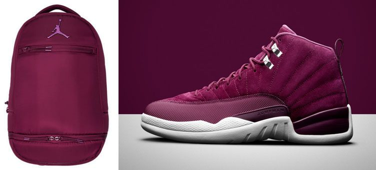 "Air Jordan 12 ""Bordeaux"" x Jordan Bordeaux Skyline Flight Backpack"