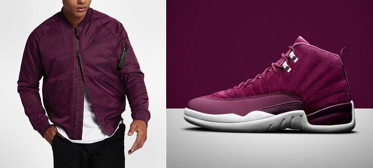info for d68b7 ccb36 Jordan 12 Bordeaux Bomber Jacket | SneakerFits.com