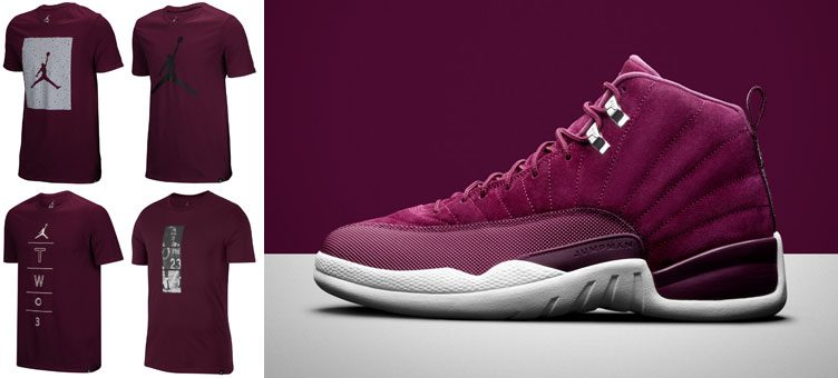 air-jordan-12-bordeaux-tee-shirts
