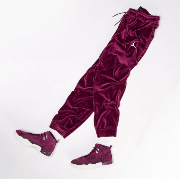 air-jordan-12-bordeaux-velour-pants