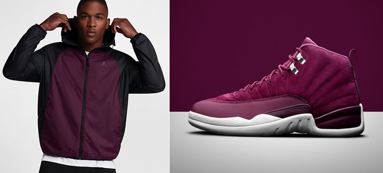87e9d283952c Air Jordan 12 Bordeaux Windbreaker Jacket