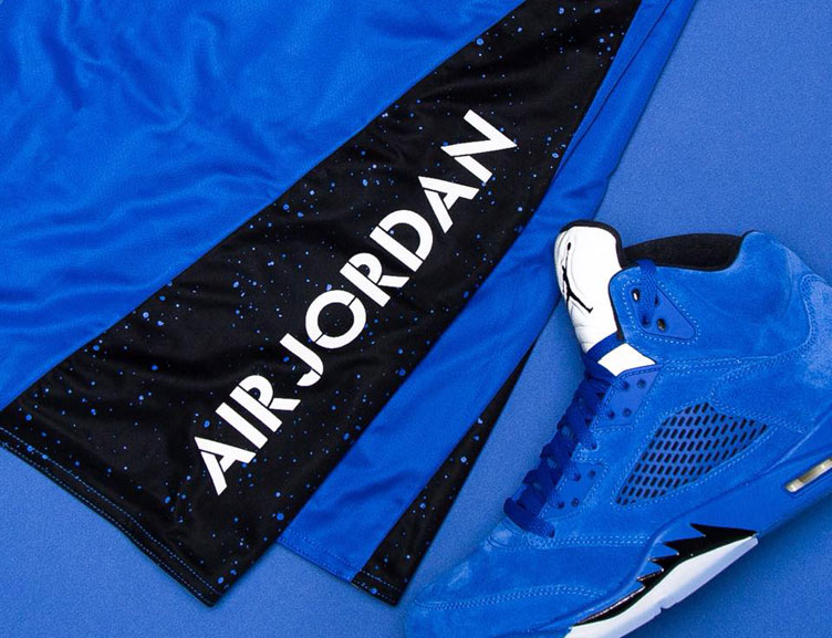 air-jordan-5-blue-suede-apparel-match