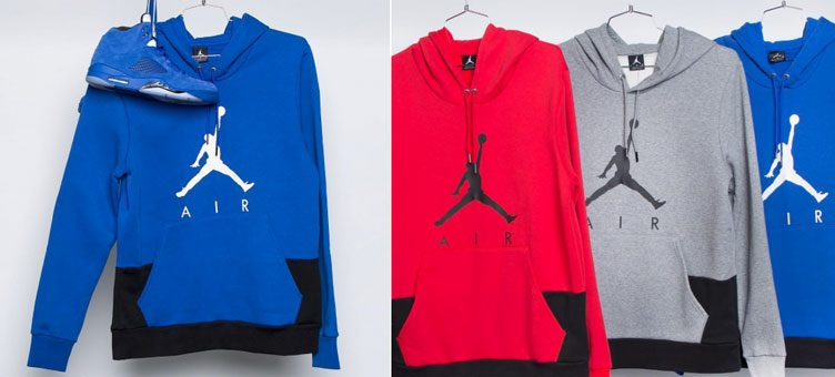 Jordan Jumpman Air Pullover Hoodies to Match Recent Air Jordan 5 Retro Releases