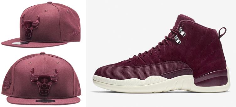 cheap for discount e3bce 7dd64 Bordeaux 12 Jordan Bulls Hat Match | SneakerFits.com
