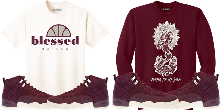 86096bfe3f75 Bordeaux 12 Jordan Sneaker Match Shirts