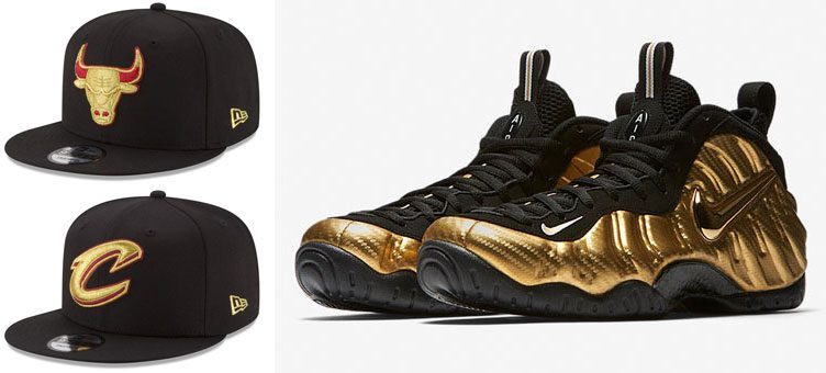 foamposite-gold-new-era-nba-hats