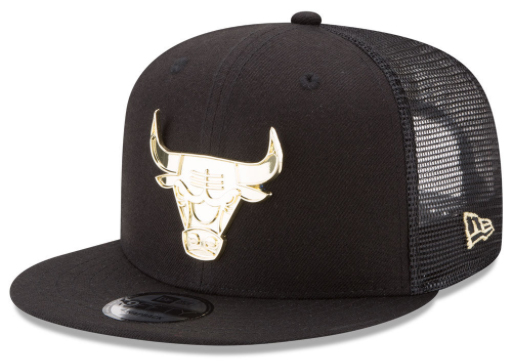 foamposite-metallic-gold-new-era-trucker-snapback-cap-bulls