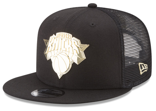 foamposite-metallic-gold-new-era-trucker-snapback-cap-knicks