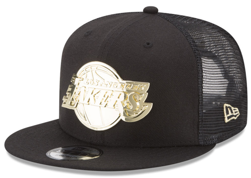 foamposite-metallic-gold-new-era-trucker-snapback-cap-lakers