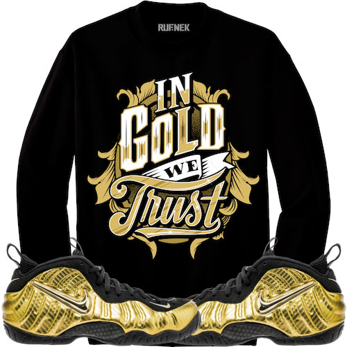 foamposite-metallic-gold-sneaker-shirt-match-1