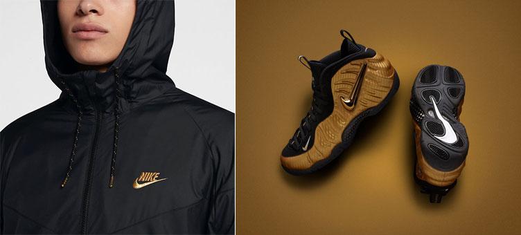 c1e392281ffb Gold Foamposite Nike Windrunner Jacket