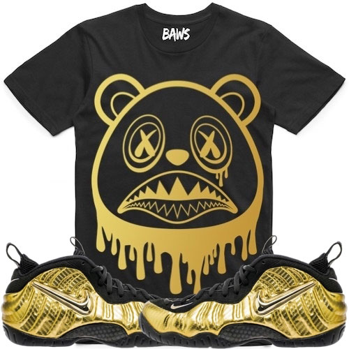 check out a74d4 eb331 ... gold-foamposite-sneaker-tee-shirt-3 ...