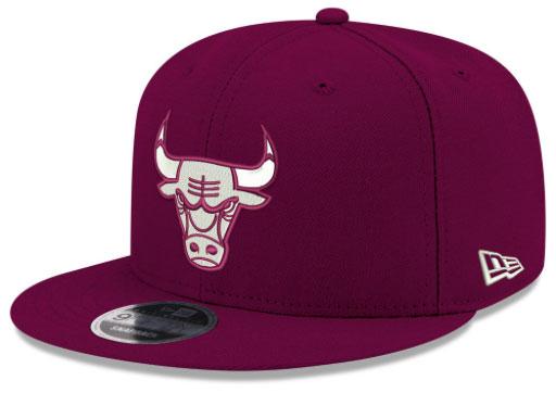 jordan-12-bordeaux-bulls-new-era-snapback-hat-1