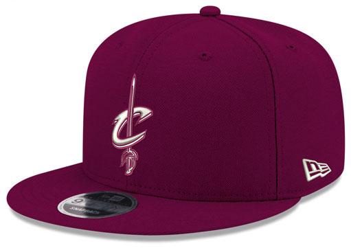 jordan-12-bordeaux-cavs-new-era-snapback-hat