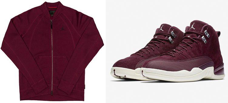 jordan-12-bordeaux-fleece-bomber-jacket
