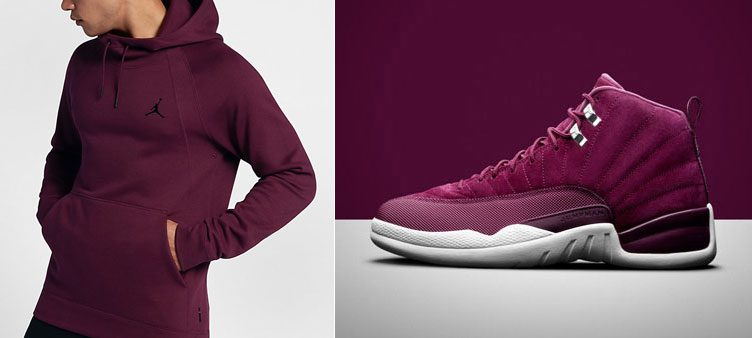 "Air Jordan 12 ""Bordeaux"" x Jordan Wings Fleece Hoodie 64a8c3a0e"