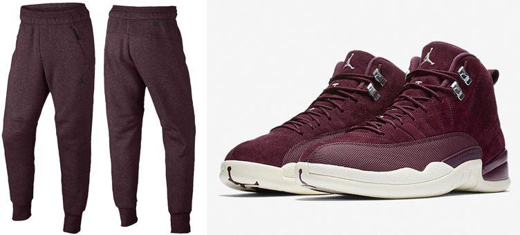jordan-12-bordeaux-jogger-pants