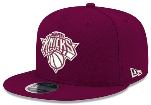 jordan-12-bordeaux-knicks-new-era-snapback-hat