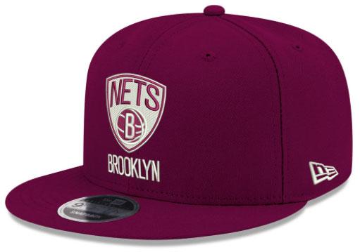jordan-12-bordeaux-nets-new-era-snapback-hat
