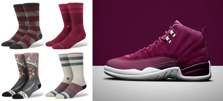jordan-12-bordeaux-sock-match