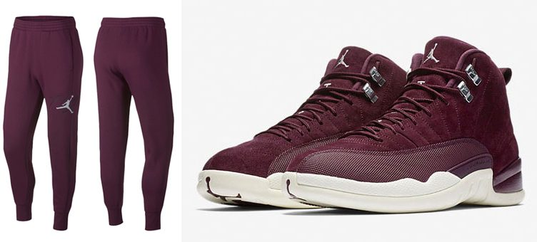 jordan-12-bordeaux-sweatpants