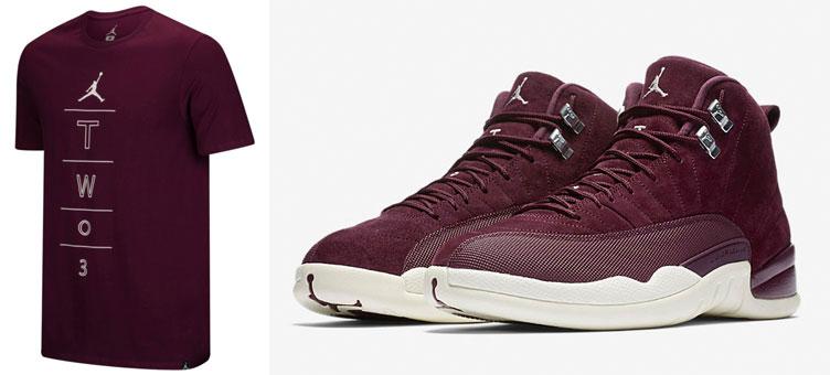 best service ed548 e3fc1 Air Jordan 12 Bordeaux Tee | SneakerFits.com
