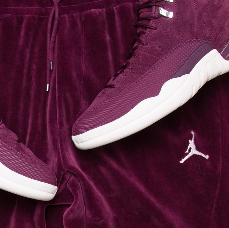 jordan-12-bordeaux-velour-pants