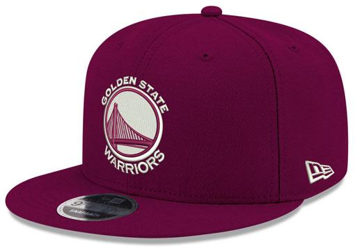jordan-12-bordeaux-warriors-new-era-snapback-hat