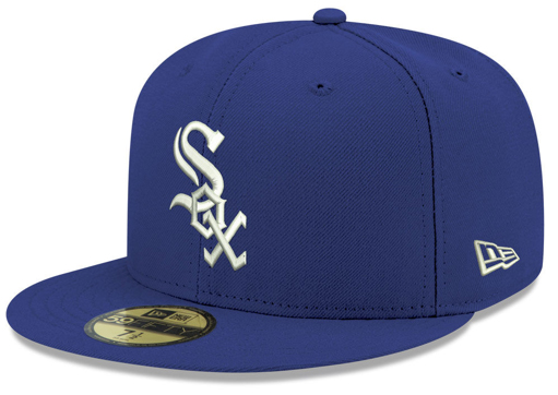 jordan-5-blue-suede-new-era-mlb-59fifty-fitted-cap-chicago-white-sox