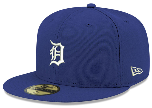 jordan-5-blue-suede-new-era-mlb-59fifty-fitted-cap-detroit