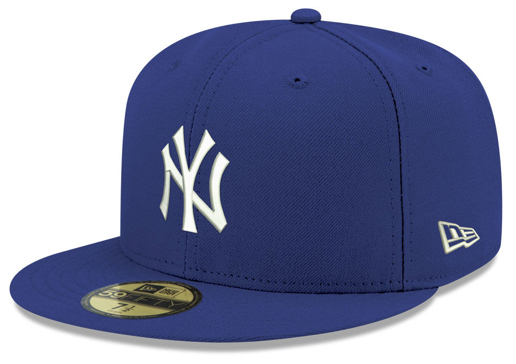 jordan-5-blue-suede-new-era-mlb-59fifty-fitted-cap-new-york-yankees