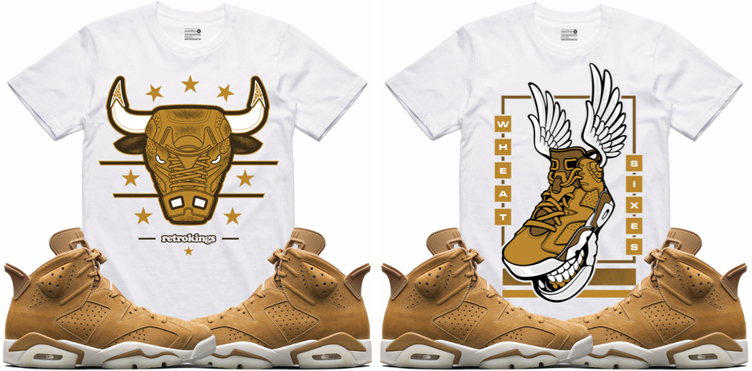 75906e7139cd Jordan 6 Wheat Sneaker Shirts by Retro Kings
