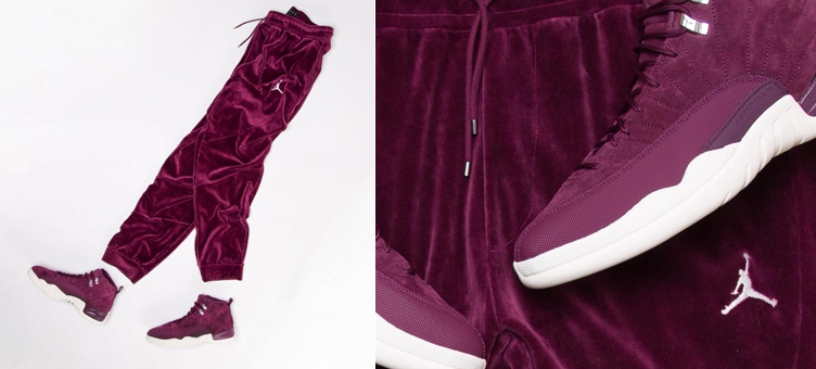 the best attitude 0bc96 e4525 Air Jordan 12 Bordeaux Velour Clothing | SneakerFits.com
