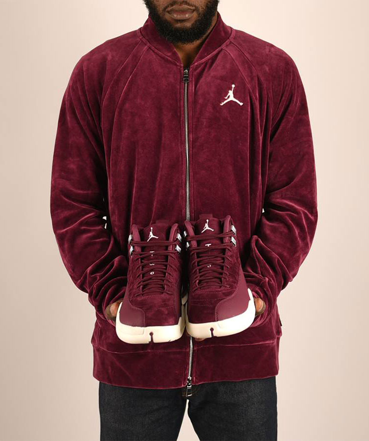 21e60ce32d2571 Air Jordan 12 Bordeaux Matching Apparel