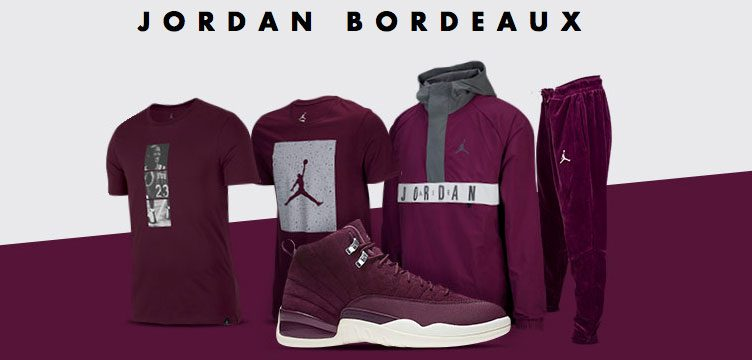 "Air Jordan 12 ""Bordeaux"" Apparel Hook-Ups Available at Champs Sports"