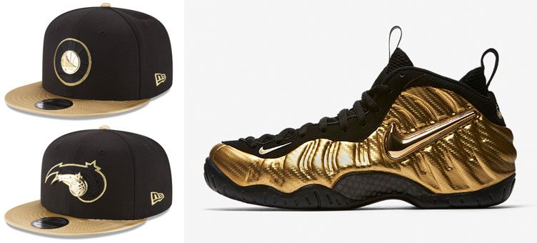nike-air-foamposite-gold-nba-snapback-hats