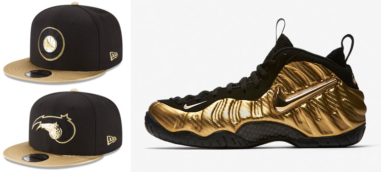 d2e9bc12068 nike-air-foamposite-gold-nba-snapback-hats