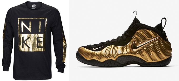 911f6d3451ee2 Nike Foamposite Metallic Gold Shirts | SneakerFits.com