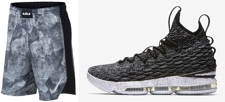 "Nike LeBron 15 ""Ashes"" x Nike LeBron Elite Basketball Shorts"