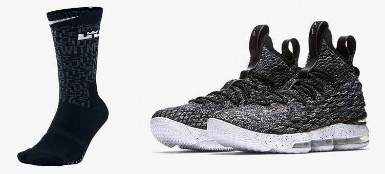 "Nike LeBron 15 ""Ashes"" x Nike LeBron Elite Basketball Socks"