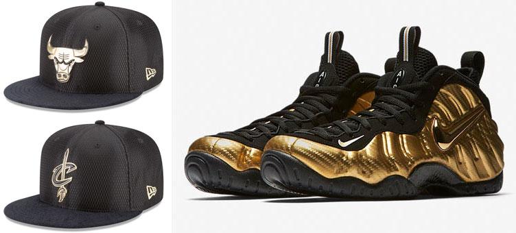 1e73284b5 NBA Snapback Hats to Match Gold Foamposites | SneakerFits.com