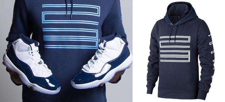 new product c087b 8eee7 Jordan 11 Win Like 82 Midnight Navy Hoodie | SneakerFits.com
